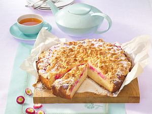 Rhabarberkuchen mit Butterstreuseln Rezept