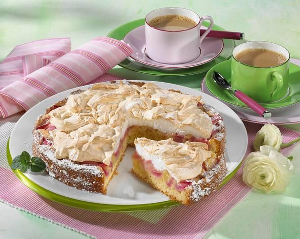Rharbarber-Baiser-Torte Rezept