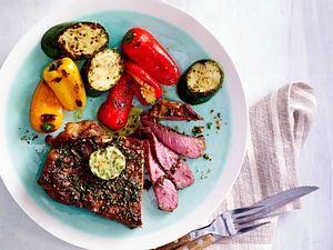 Rib-Eye-Steak mit Grill-Gemüse Rezept