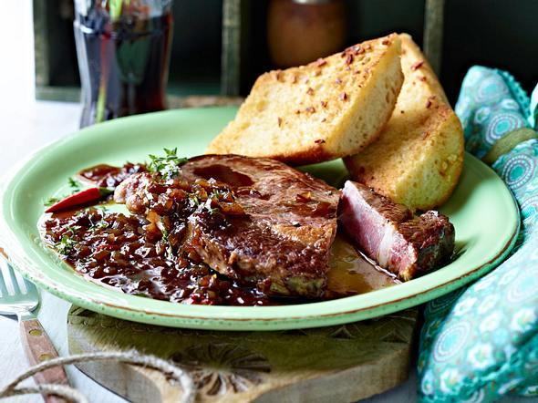 Ribeye-Steak mit Colasoße Rezept