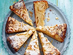 Ricotta-Mandel-Kuchen mit Apfel Rezept