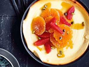 Ricotta-Pancake mit Zitrussalat Rezept