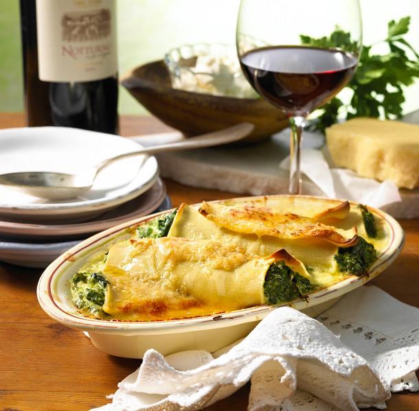 Ricotta-Spinat-Cannelloni Rezept