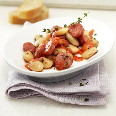 Riesenbohnen in Salsiccia-Tomatensugo Rezept
