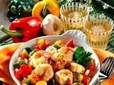 Riesengarnelen auf Paprikagemüse Rezept
