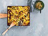Riesiges Kartoffel-Speck-Backlette mit Silberzwiebeln Rezept