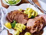 Rinderbraten mit Zwiebelsoße Rezept