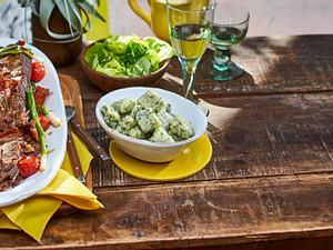Rinderbrust mit Basilikum-Spinat-Gnocchi Rezept