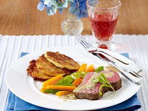 Rinderfilet an Estragonsoße mit Rösti (das perfekte Dinner) Rezept