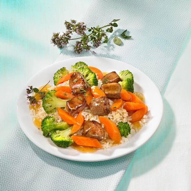 Rinderfilet auf Gemüse Rezept