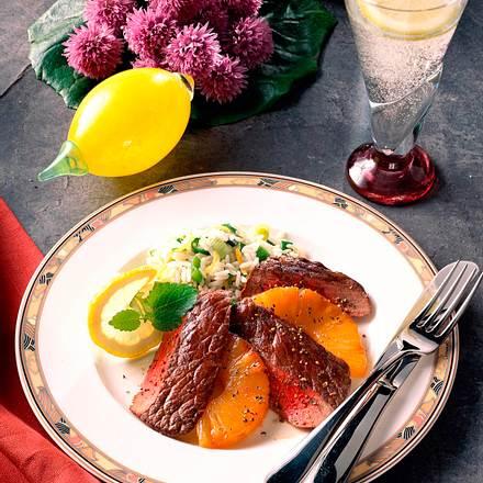 Rinderfilet mit Ananas und Reis Rezept