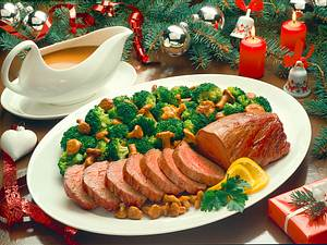 Rinderfilet mit Broccoli- Pfifferlings-Gemüse Rezept