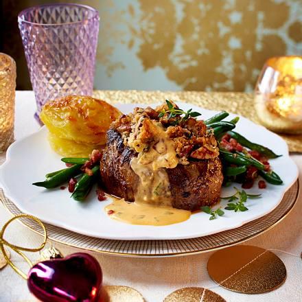 Rinderfilet mit Café-de-Paris-Soße und Kartoffeln Rezept