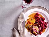 Rinderfilet mit Kirsch-Rotkohl und Kartoffel-Türmchen (TITEL) Rezept