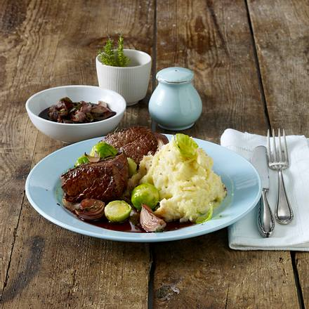 Rinderfilet-Steak mit Selleriepüree Rezept