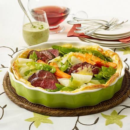 Rinderfilet und Gemüse im Blätterteig Rezept