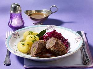 Rinderrouladen mit Rotkohl (kalorienarm) Rezept