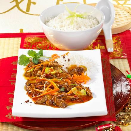 Rindfleisch Szechuan Rezept