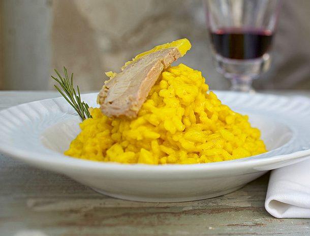 Risotto allo Zafferano con Fetago Grasso (Safran-Risotto mit Gänsepastete) Rezept