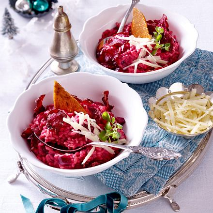 Risotto mit Rote Bete-Chips Rezept