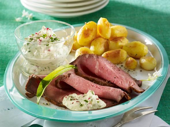 Roastbeef mit Bärlauchremoulade Rezept