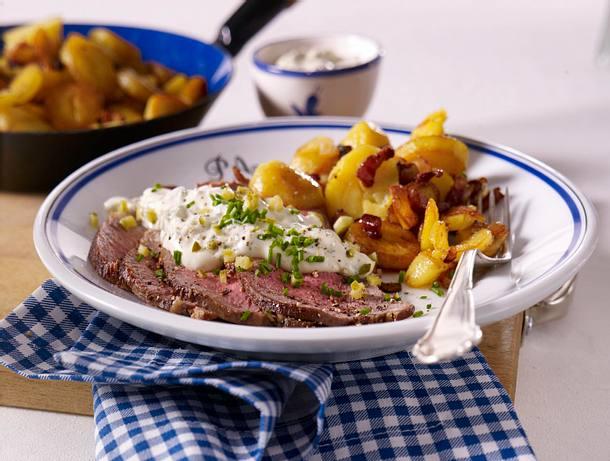 Roastbeef mit Bratkartoffel und Remoulade Rezept