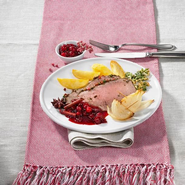 Roastbeef mit Cranberry-Chutney Rezept