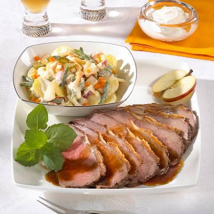 Roastbeef mit Kartoffelsalat Rezept