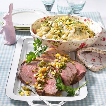 Roastbeef mit Remouladen-Kartoffelsalat Rezept