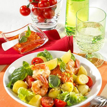Römer-Kartoffelsalat mit Scampi Rezept