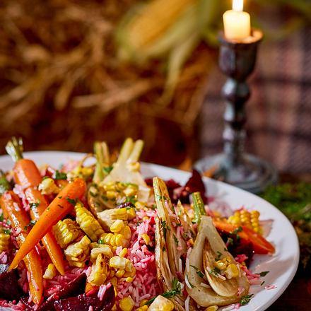 Röstgemüse-Reis-Salat Rezept