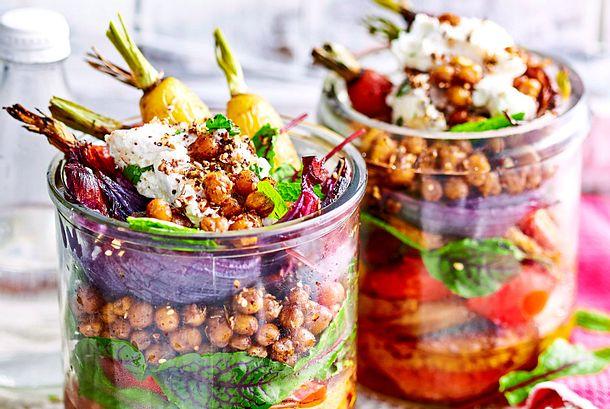 Röstgemüse-Salat für die nächste Schicht Rezept