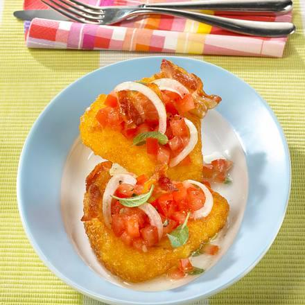 Rösti-Ecken mit Bacon und Tomaten Rezept