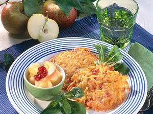 Rösti mit Apfelkompott Rezept