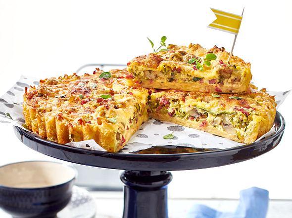 Quiche Herzhafter Kuchen Aus Frankreich Lecker