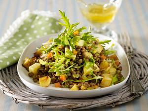 Röstkartoffel-Linsensalat mit Kasseler Rezept