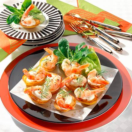Röstkartoffeln mit Garnelen Rezept