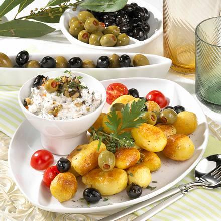 Röstkartoffeln zu Oliven-Dip Rezept