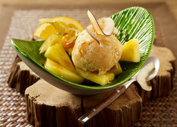 Rooibos Sorbet mit Ananas Rezept