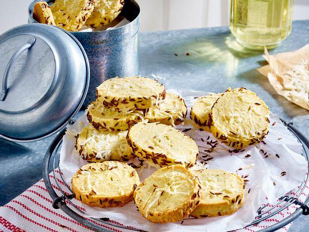 Roquefort-Parmesan-Shortbread Rezept