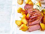 Rosa Entenbrust mit Röstkartoffeln Rezept