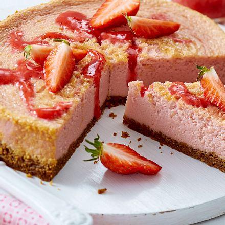 Rosa Erdbeer-Cheesecake Rezept