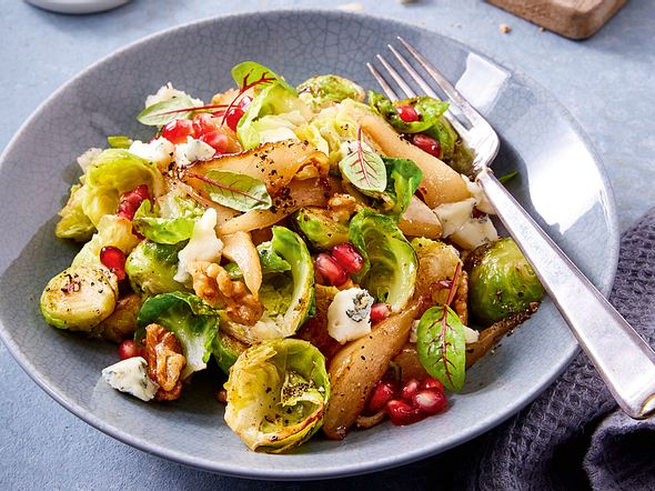 Rosenkohl-Birnen-Salat zum Mitnehmen Rezept