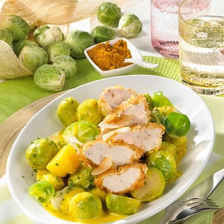 Rosenkohl-Curry mit Kokos-Hähnchen Rezept