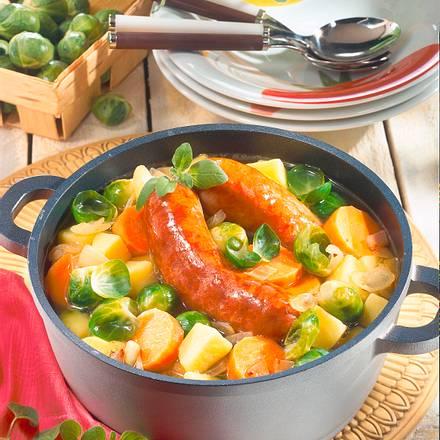 Rosenkohl-Möhren-Kartoffel-Eintopf Rezept