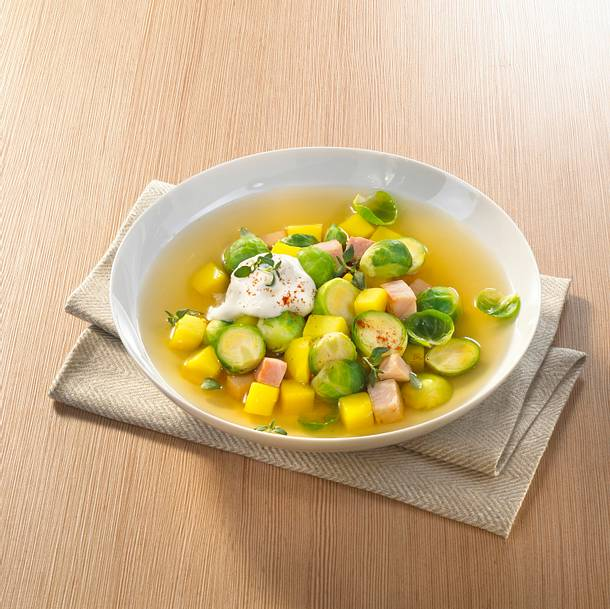 Rosenkohl-Suppe mit Kasseler Rezept