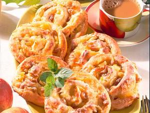 Rosinen-Apfelschnecken (Quark-Öl-Teig) Rezept