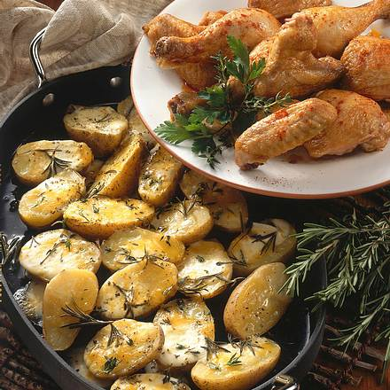 Rosmarin-Kartoffeln zu Hähnchen Rezept