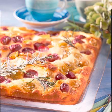 Rosmarin-Traubenkuchen Rezept