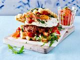 Rosmarin-Waffel-Burger Rezept